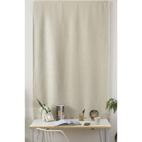 Blackout Simple Beige Stars Velcro Window Curtain Double Face Polyester Curtains Full Size Home Office Cafe Durable Curtain 1Pc