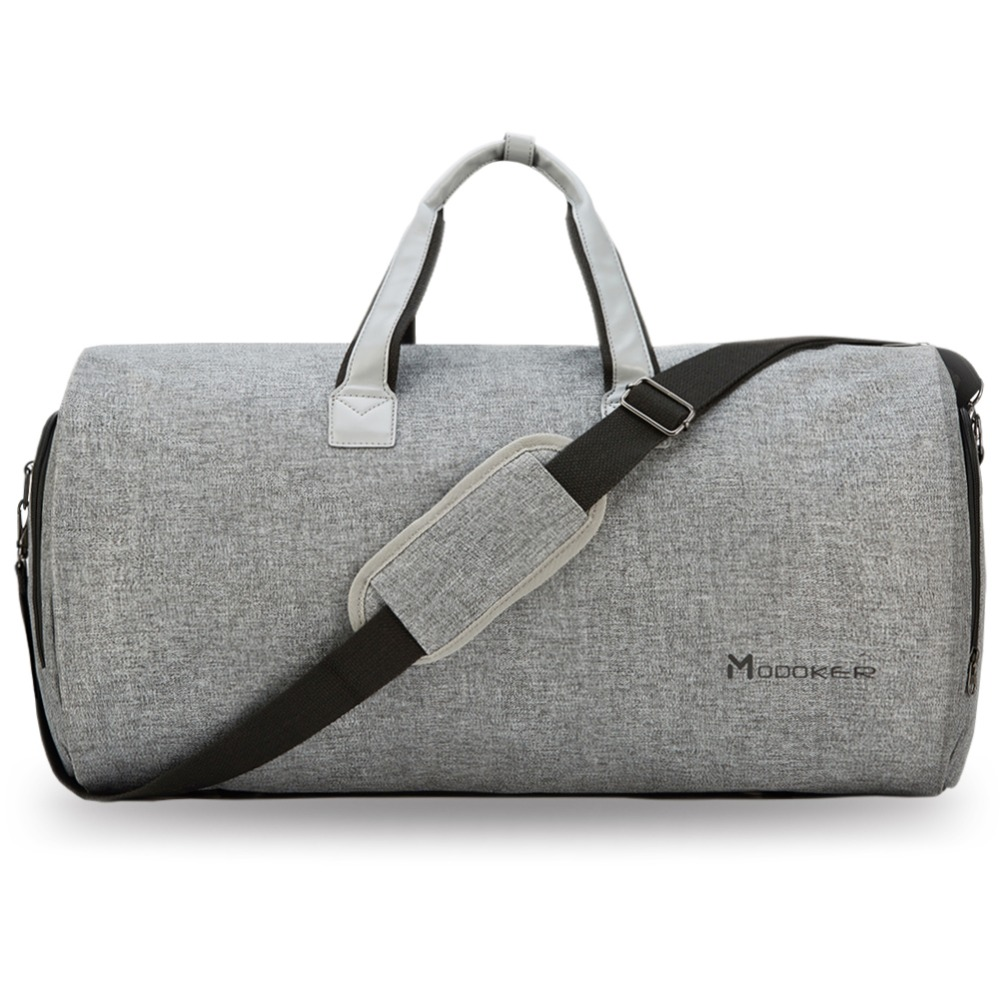 Bolso de viaje de la ropa del Modoker con la correa del hombro bolso de lona llevar en la maleta colgante ropa bolso de negocios múltiples bolsillos