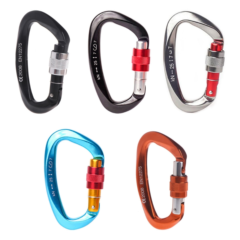 25kN Carabiner Buckle Aluminum Alloy Hook Climbing Camping Outdoor Survival Tool  'zt