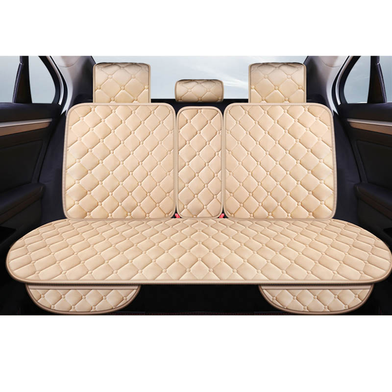 Black Universal Rear Car Auto Seat Cover Plush Protector Mat Chair Cushion 2019