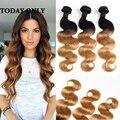 Ombre Перуанский Девы Волос Объемная Волна Ранг 10A 2 Тон Уток человеческих Волос Расширения 3 Шт. Ali Hair Product Omber Объемная волна