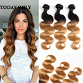 Ombre Peruvian Virgin Hair Body Wave Grade 10A  2 Tone Human Hair Weft Extensions 3Pcs  Ali Hair Product Omber Body Wave