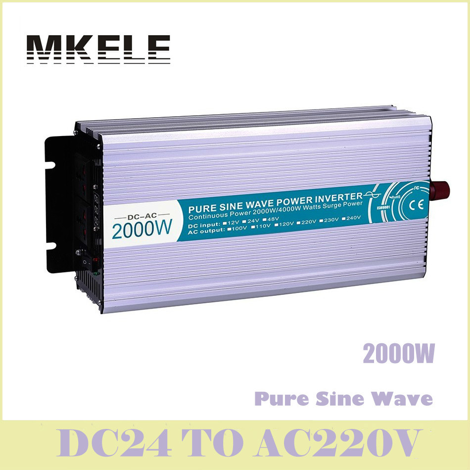 цена на Power Inverter MKP2000-242  Pure Sine Wave 2000w 24v 220v Ac Voltage Converter Solar LED Display China High Quality