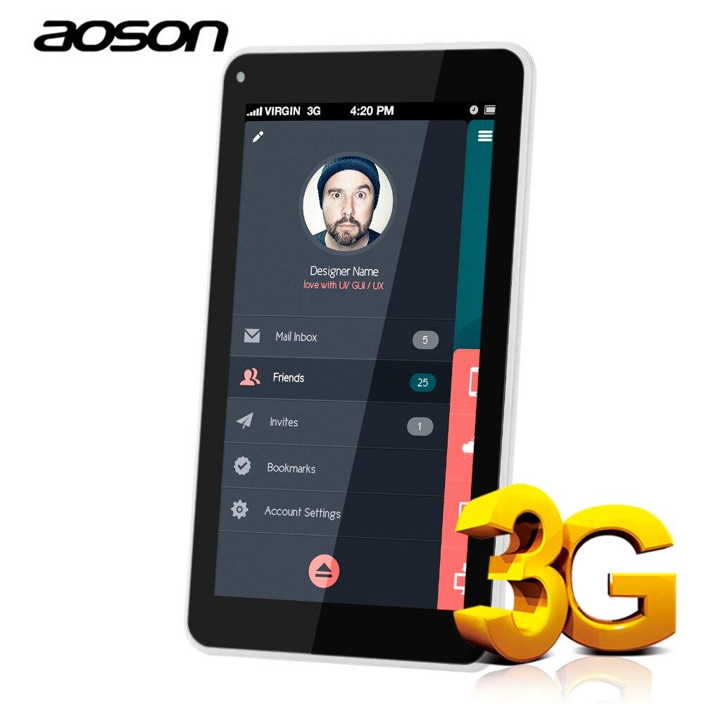Aoson планшеты 7 дюймов DUAL SIM карты 3g телефонные вызовы Планшеты Android 7,0 PC ips экран gps Wi Fi 16 ГБ Встроенная память 4 ядра