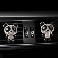 Inlay Water drill Panda car Air conditioning outlet perfume interior accessories fragrance