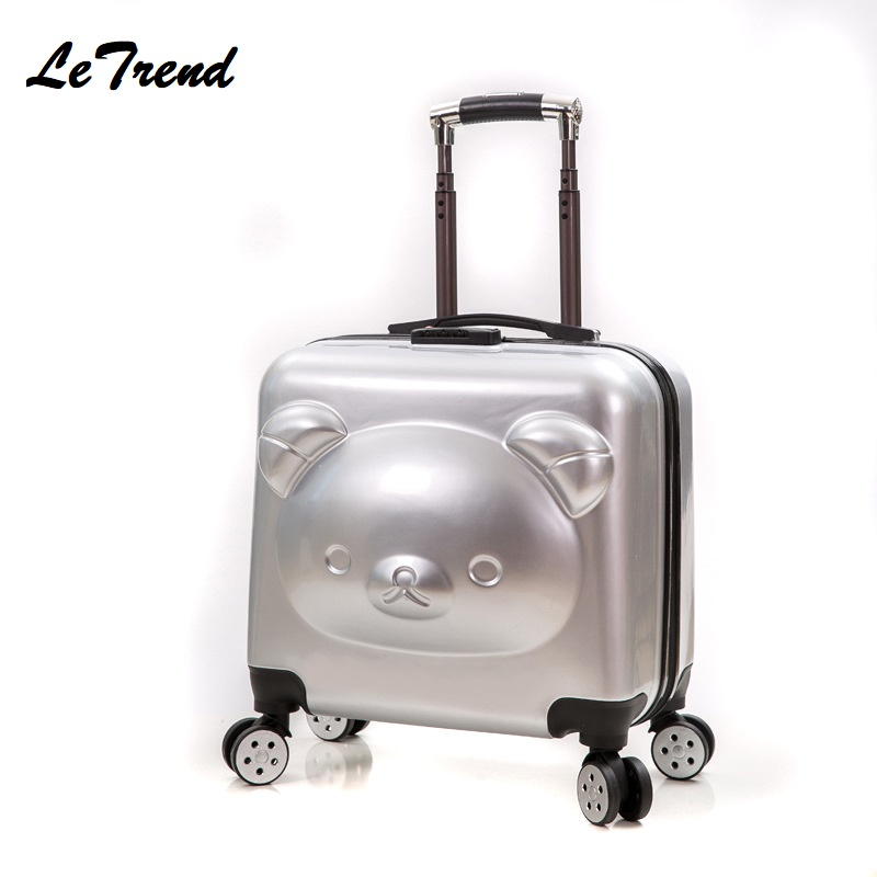 New ABS 18/20inch Rolling Luggage 3D Cute Suitcase Travel Suitcase With Wheels Custom Laser Engraving Luggage Spinner New ABS 18/20inch Rolling Luggage 3D Cute Suitcase Travel Suitcase With Wheels Custom Laser Engraving Luggage Spinner
