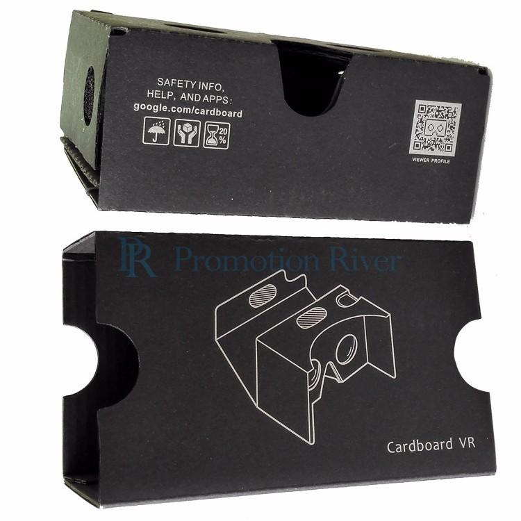 Event Supplies Logo Custom Black Google Cardboard V 2.0 Custom printing Virtual Reality Headset VR Viewer for up to 6 inch phone 8