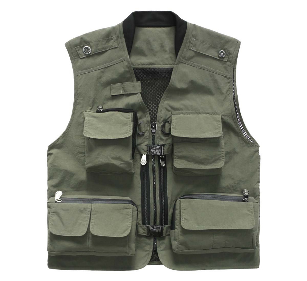 Quick-Drying Vest Multi Pockets Photography Vest Adversting Waistcoat Pockets Camera Man Vest Working Unifrom Men Women VT-020