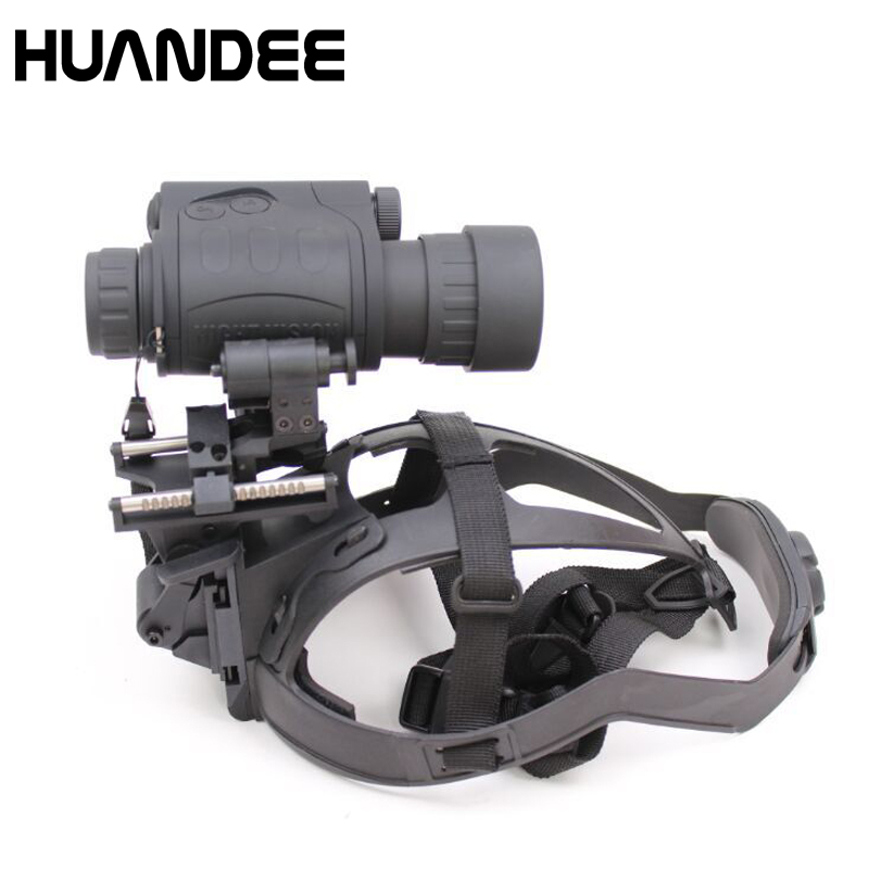 Multipurpose Infrared Gen1 3X 44 Full Darkness Helmet Night Vision Goggles Night Vision Monocular with Helmet HD003 ...
