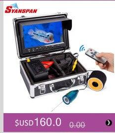 """SYANSPAN водонепроницаемый видеорегистратор рыболокатор """" ЖК-монитор видео камера 1000TVL подводный лед Рыбалка 36 светодиодов 360 градусов вращающийся черный"""