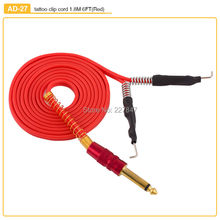 CHUSE Silicone Clip Cord 1.8M Length 6FT For Machine Gun Power Supply 4 Colors For Choose-Red Microblading Tattooing Eyes