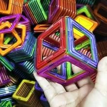30 шт. большой размер магнитные строительные блоки треугольные квадратные кирпичи Магнитный конструктор строительный Набор Развивающие игрушки для детей