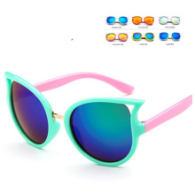 цена на Sport Silicon Eyeglasses Flexible Rubber Gogglesfree shippingGirls Kids Cat Eye SunglassesChild Baby Sun Glasses Infant TR90