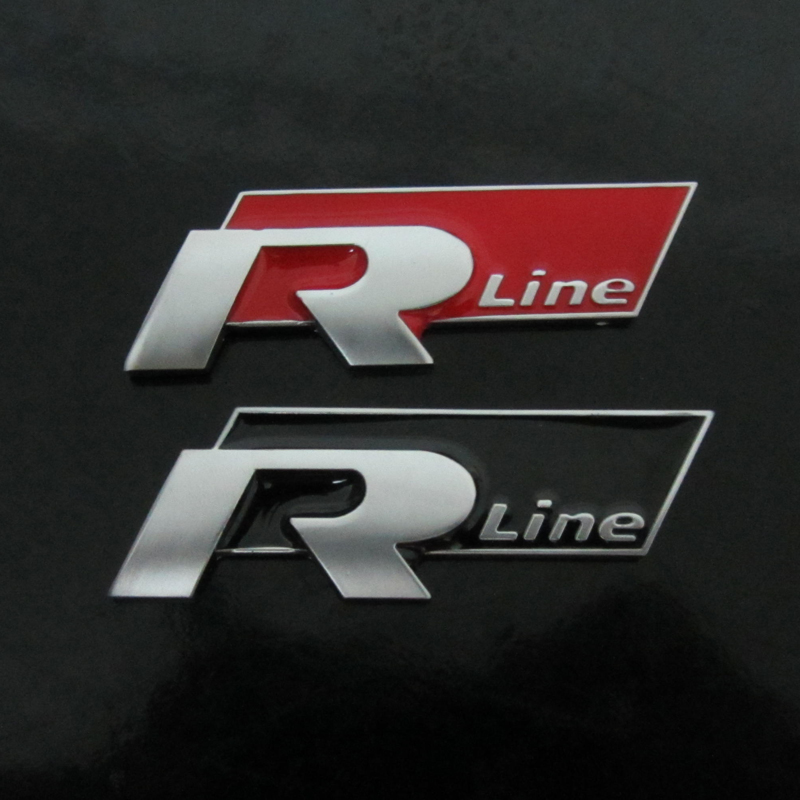 Automobiles Motorcycles Styling Accessories R-Line Trunk Emblem RLINE Side Logo Stickers For Car Doors Taillights 7.5X2.5cm emblem