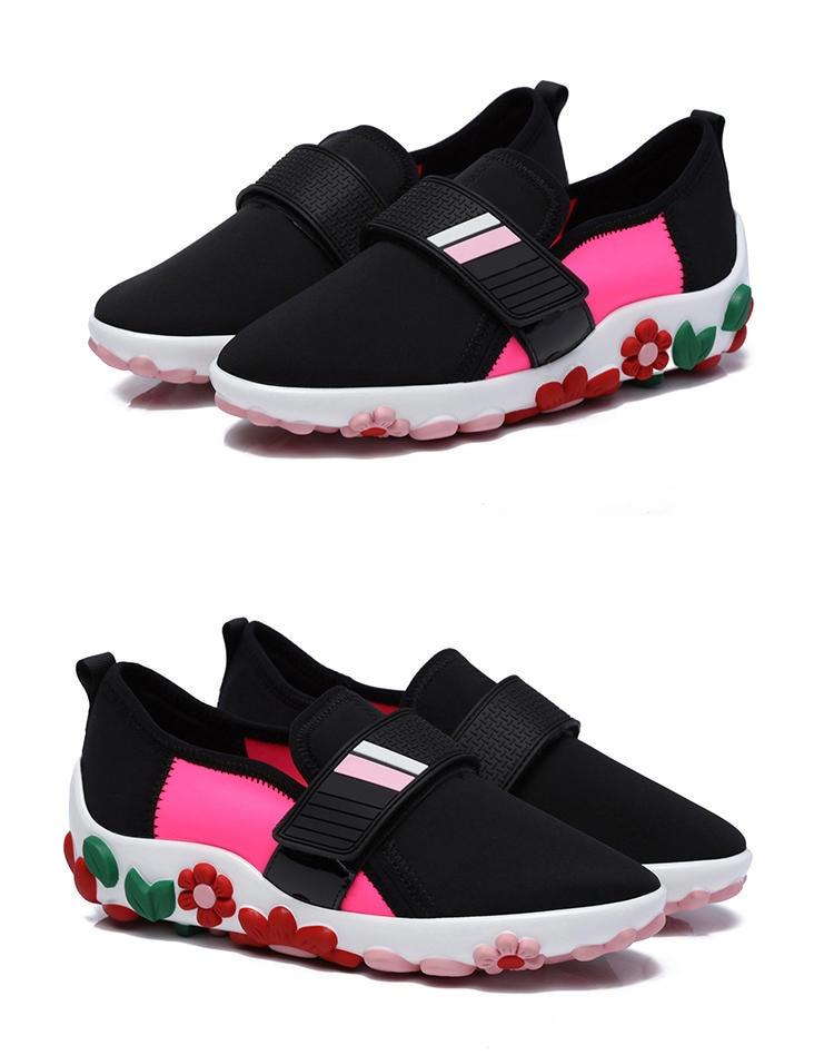 rouge Semelle Dames Appartements Zapatos Chaussures Respirant Fleur Femmes Printemps Mujer Épaisse Profonde Automne De Couleur Mixte Beige Mode Confortable Peu qqPHOwZt
