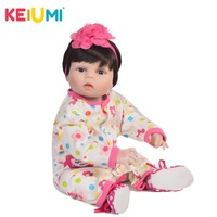 KEIUMI 57 cm Alive Reborn Baby Full Body Silicone Doll New Arrival Realistic Baby Reborn Dolls Vinyl 23 Inch Kids Playmates Toys