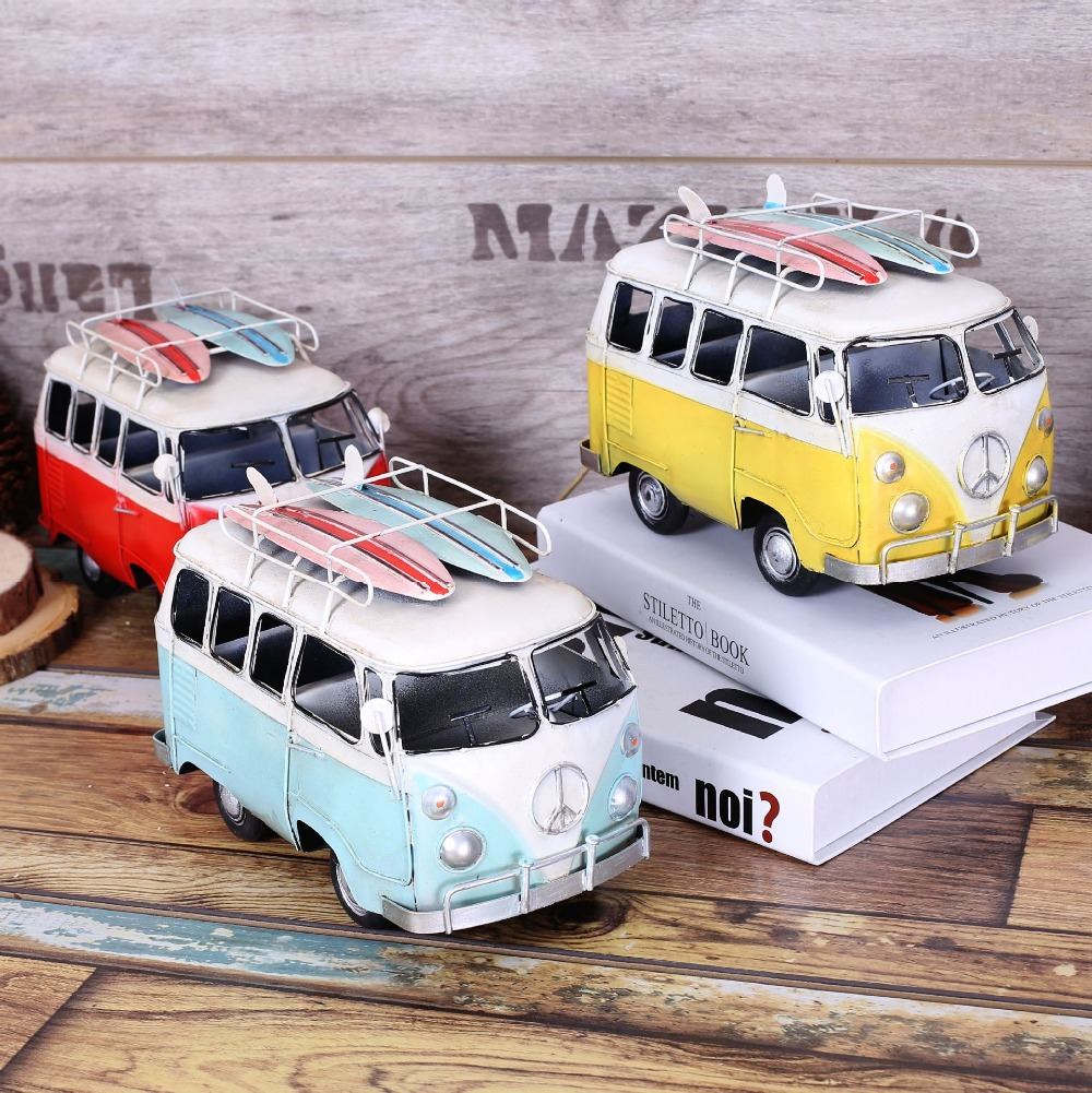 New arrival jumbo size creative metal bus model hand made for Antique car decor