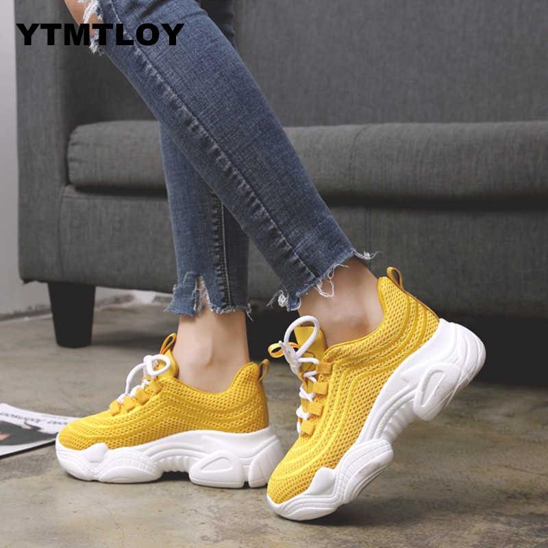 Women Sneakers Autumn  air Mesh Tenis Fashion Casual Shoes Woman Comfortable Breathable Flats Female Platform Chaussure Femme 0