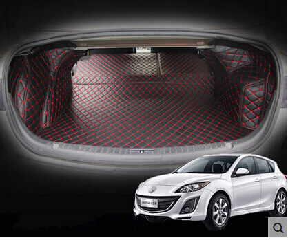 High quality! Special trunk mats for Mazda 3 Sedan 2013-2009 waterproof cargo liner boot carpets for Mazda 3 2010,Free shipping