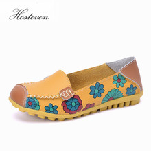 New Women Real Leather Sneakers Moccasins Mother Loafers Shoes Soft Leisure Flats Ladies Female Driving Ballet Casual Footwear