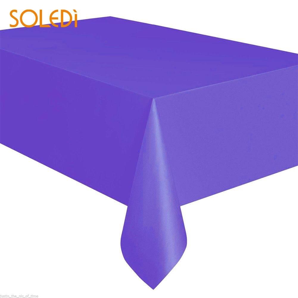 SOLEDI 20 цветов мягкий настольный бегун скатерть пластиковые товары для дома одноразовая скатерть для стола украшение стола - Цвет: dark purple