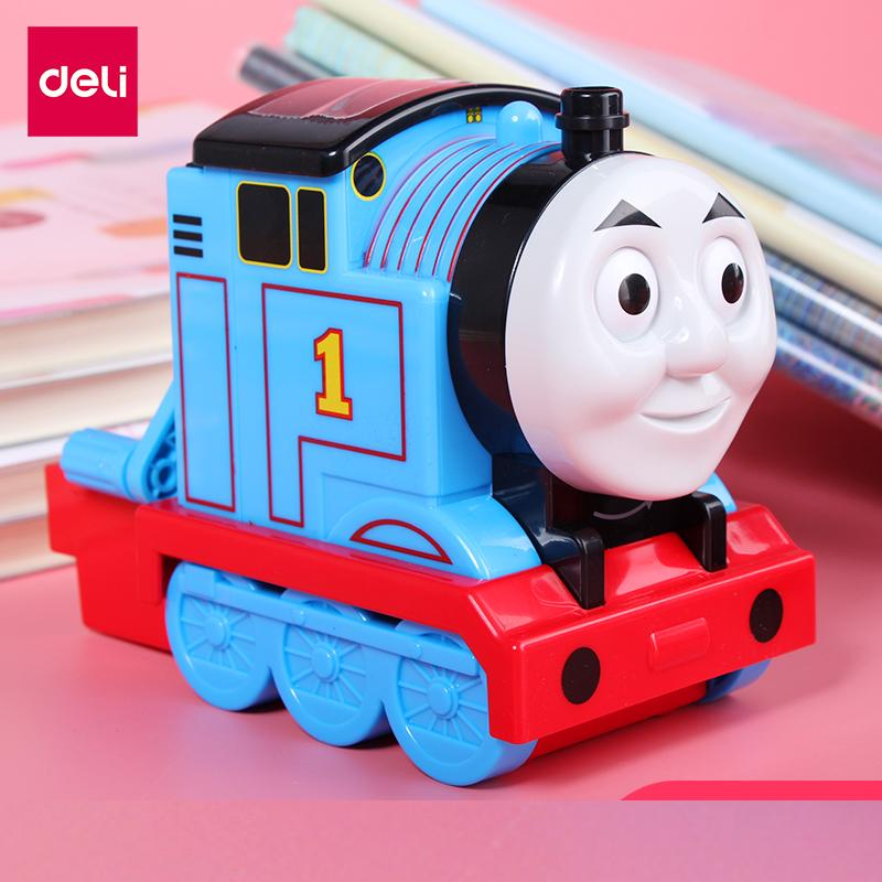 1 Pc Cartoon Thomas Train Standard Pencil Sharpener Hand Crank Pencil Cutting Machine Deli 0743