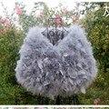 Бесплатная доставка 100% натуральный мех 2015 страусиных перьев мыс меха невесты свадебные платки зима женщины платье качество товаров пальто с