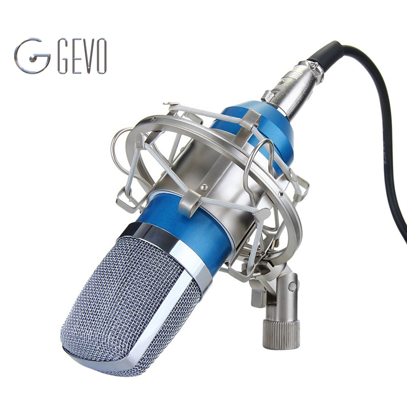 BM700 Professional 3.5mm Wired Condenser Recording Microphone With Metal Shock Mount For Radio Braodcasting Computer BM 700 bm 800 high quality professional condenser sound recording microphone with shock mount for radio braodcasting singing 4 color