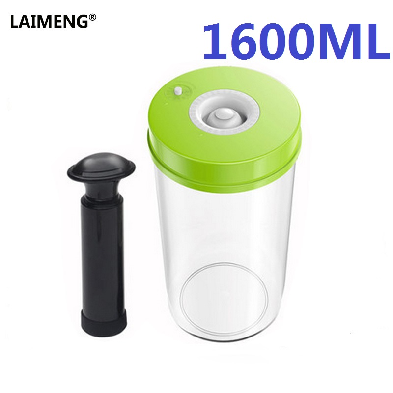 все цены на LAIMENG Household Food Vacuum Containers 1600ML Vacuum Sealer Machine Fresh Keeping Canisters S169 онлайн
