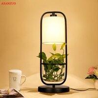 Креативная настольная лампа настольная светодиодный лампа прикроватная лампа для чтения для изучения спальни освещение черный железный п