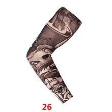 † Открытый Велоспорт Поддельные Татуировки Рукава Татуировки Отпечатано Armwarmer Рукава Защиты от