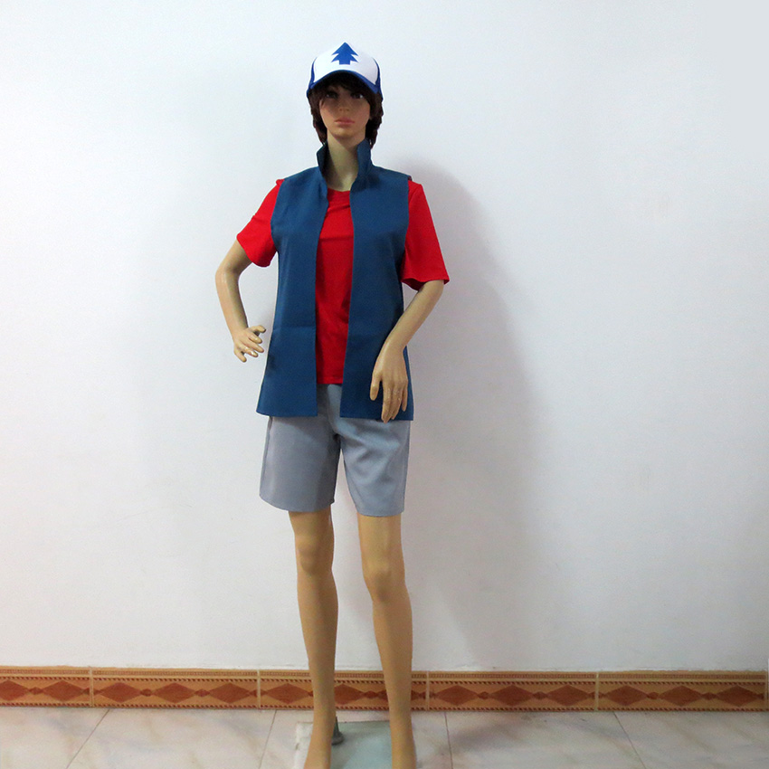 Gravity Falls Dipper Pines Christmas Party Halloween Uniform Outfit Cosplay Costume Customize Any Size