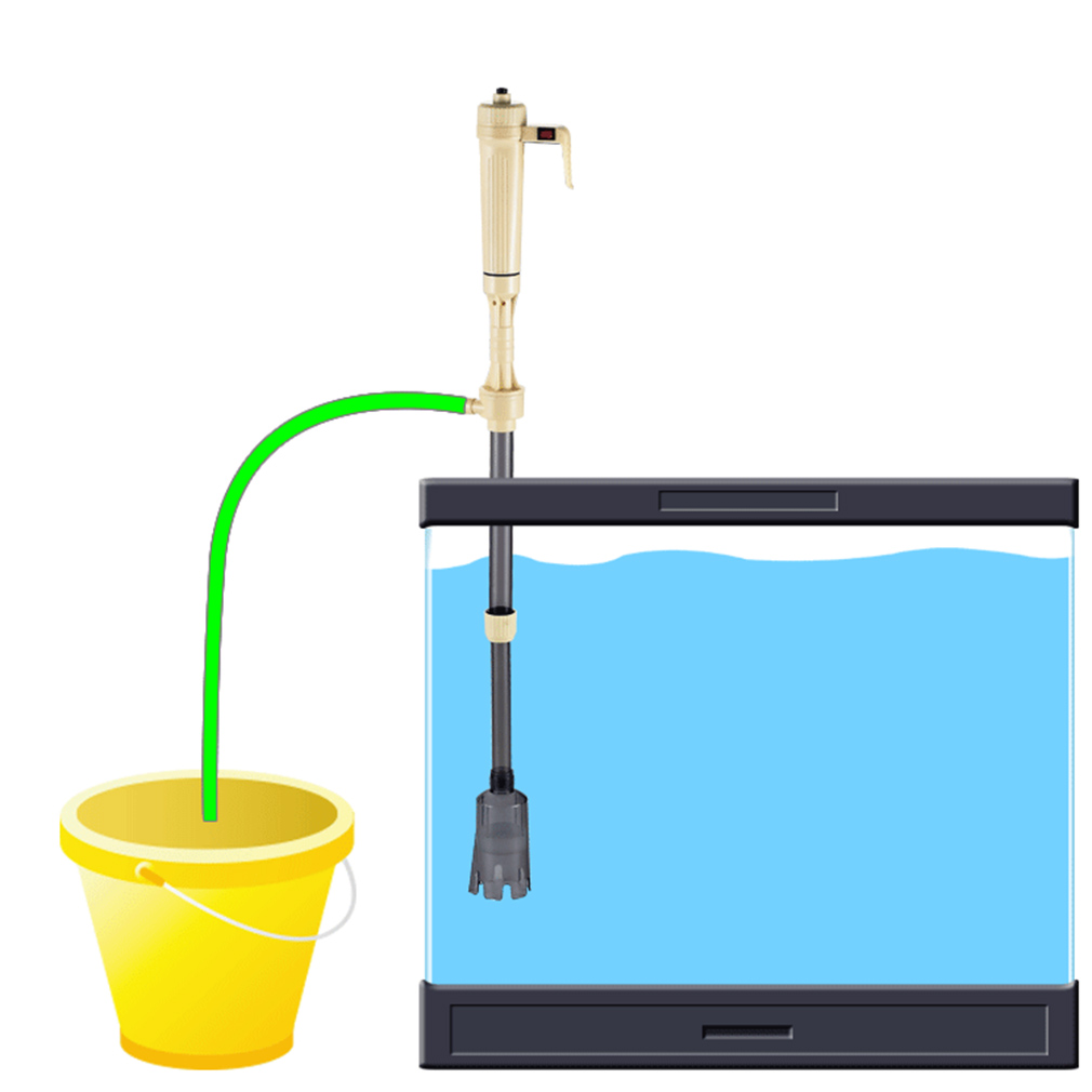 New aquarium battery syphon operated fish tank vacuum for Outdoor fish tank filter