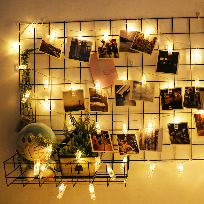 Lower Price with Led String Lights 40leds 4meter Card Pictures Photos Clip Led Fairy Light Indoor Christmas Decoration For Home Party Wedding Making Things Convenient For The People