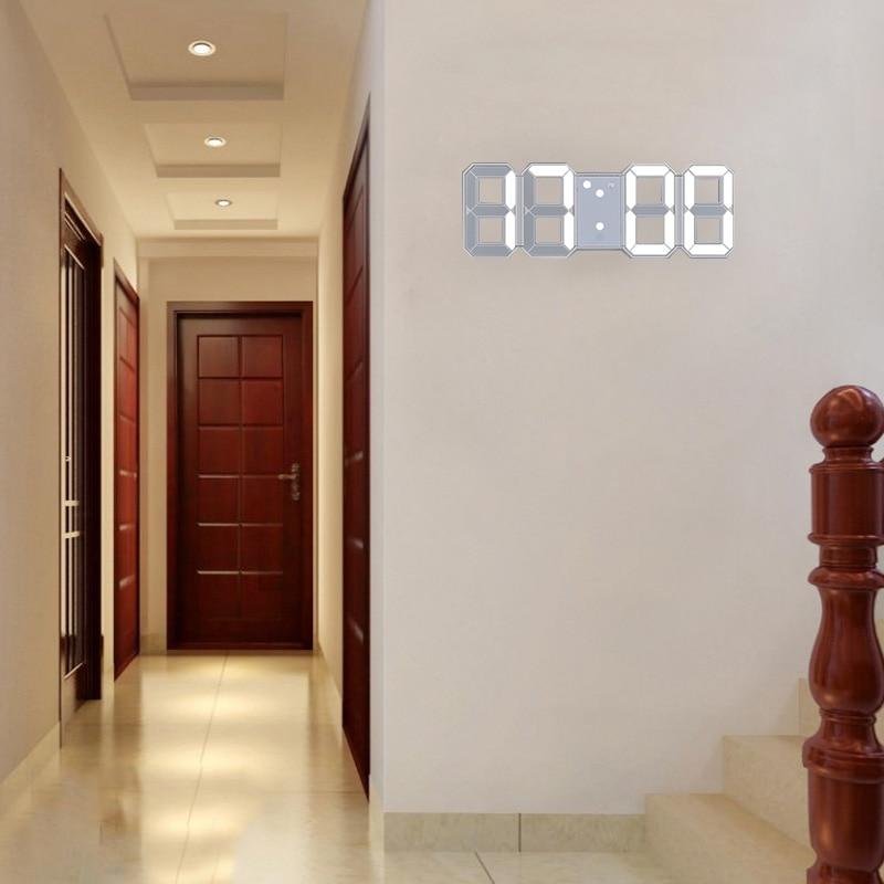 Anpro 3D Large LED Digital Wall Clock Date Time Celsius Nightlight Display Table Desktop Clocks Alarm Clock From Living Room 2