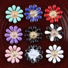 120PC 18mm Handmade Vintage Metal Decorative Buttons Crystal Pearl Flower  Center Alloy Flatback Rhinestone Button Craft 3592b065b204