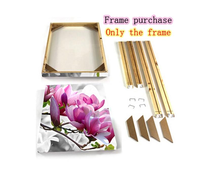 one frame living room wall canva painting frame canvas diy framework custom sizes muhammad ali oil