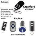 Crawford пульт дистанционного управления EA433 2KS, EA433 4KS Замена гаражной двери открывалка с дистанционным управлением Crawford пульт дистанционного у...