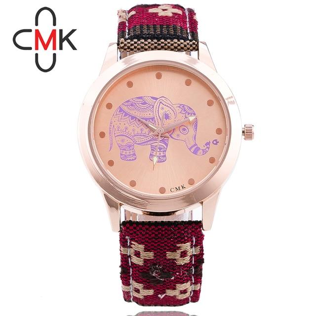 Zegarek damski słoń azteckie wzory