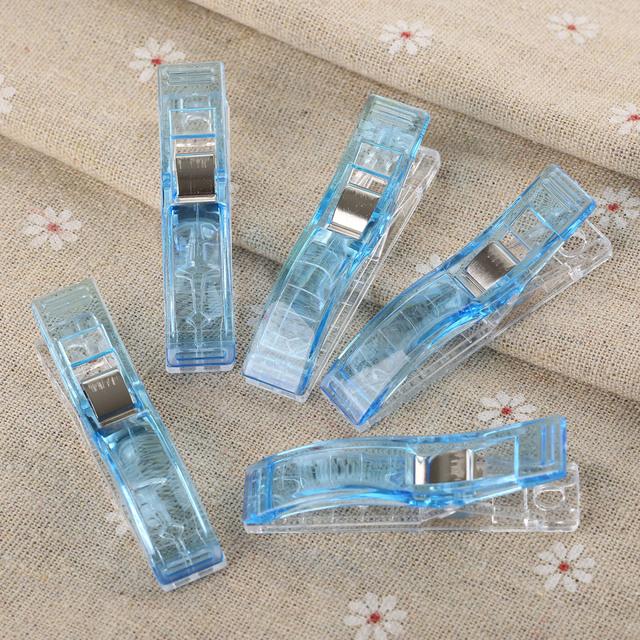 Clips de plástico de PVC 10 unids tamaño grande trébol manualidades edredón acolchado