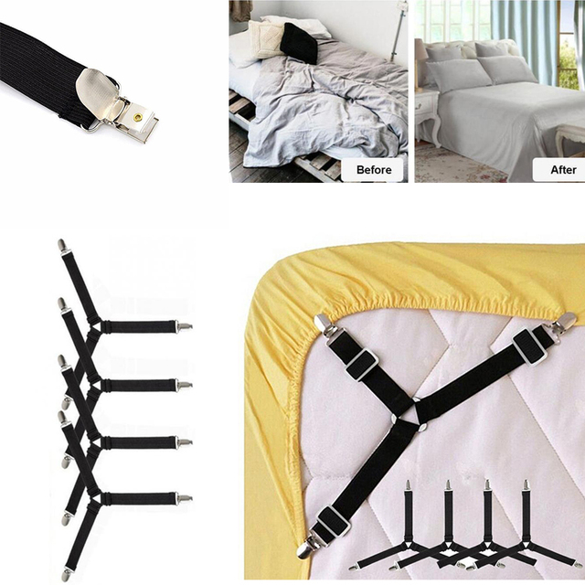 4Pcs/Set Adjustable Bed Sheets Holder Fitted Sheet Clip Bed Tablecloth  Curtain Sofa Cover Mattress
