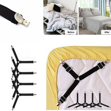 4Pcs/Set Adjustable Bed Sheets Holder Fitted Sheet Clip Bed Tablecloth Curtain Sofa Cover Mattress Cover Straps Supply Drop ship(China)