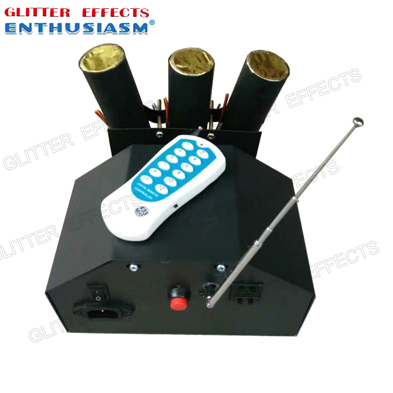 цена ELT03R remote control 3 channel swing dancing cold fountain console for wedding system machine