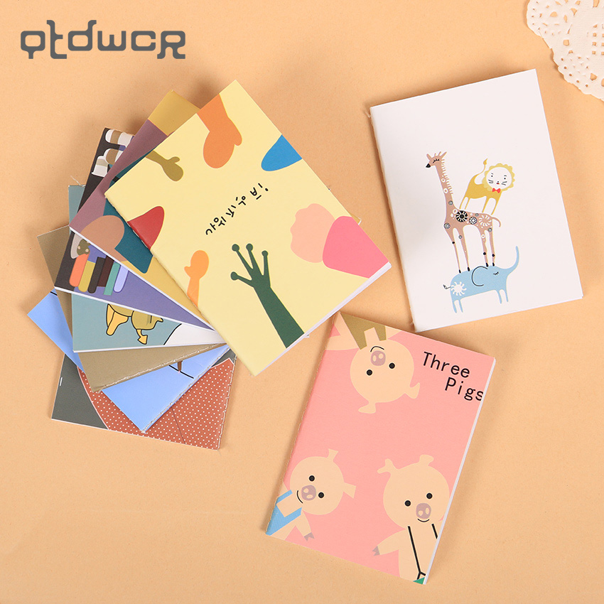 9PCS Cute Mini 9 Types Notebook Agenda Day Planner Note Record Stationery Office School Supplies