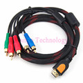 High quality 1.5M HDMI to 5 RCA AV Audio Video Component Cable Wire