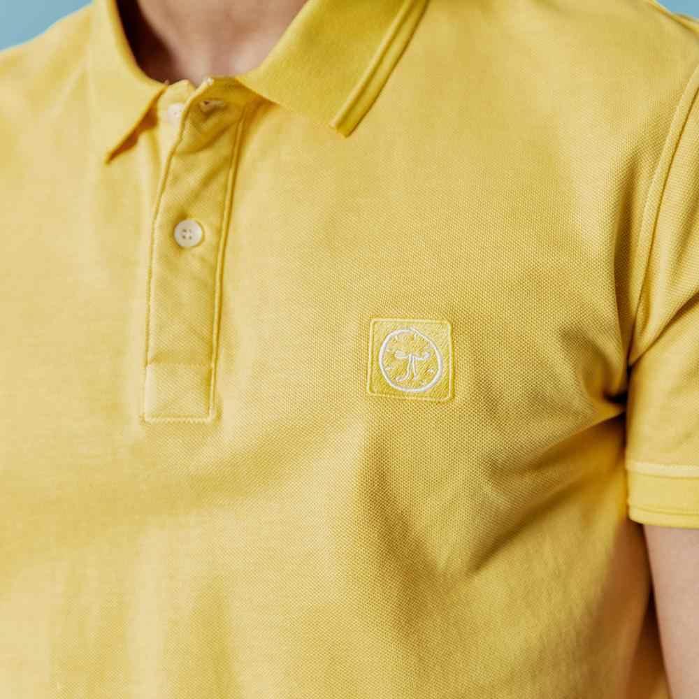 SIMWOOD 2020 봄 여름 새로운 폴로 셔츠 남자 클래식 패션 자 수 로고 100% 코 튼 탑스 고품질 옷 190294