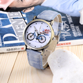 2016 Новая Мода Унисекс наручные часы Велосипед Шаблон есть Мужчины и Женщины Случайный Кварцевые дети часы Хотите Ездить с ребенком