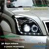 Hireno Car Styling Headlamp For 2003 2009 Toyota Land Cruiser Prado Headlight Assembly LED DRL Angel