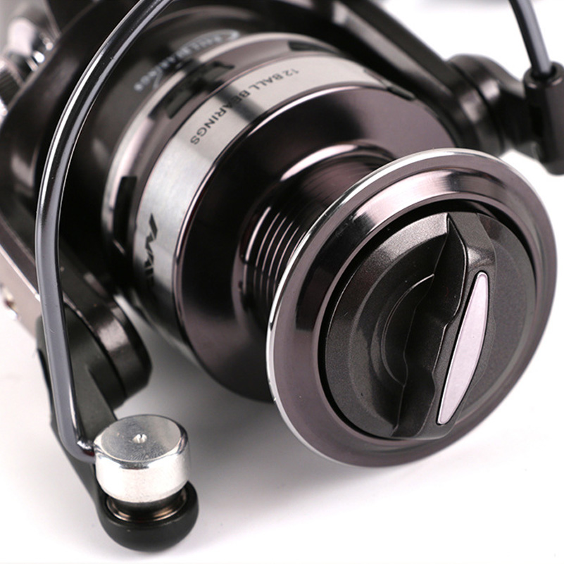 цены YUYU Quality metal Fishing Reel spinnng 12BB 1000 2000 3000 4000 5000 7000 model spinning reel fishing pesca metal spool