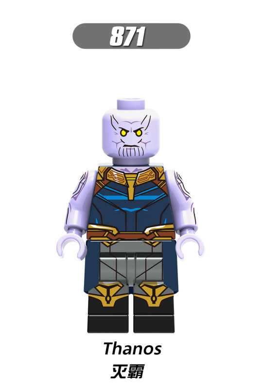 Figures Avengers super Heroes Thanos Vision Captain America Kraglin Starhawk Building Blocks Figurines Toys for Children